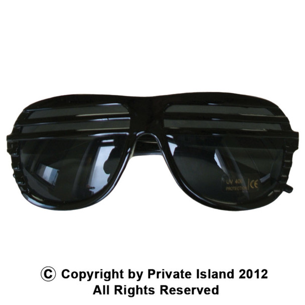 Black Half Shutter Shades Sunglasses 1151