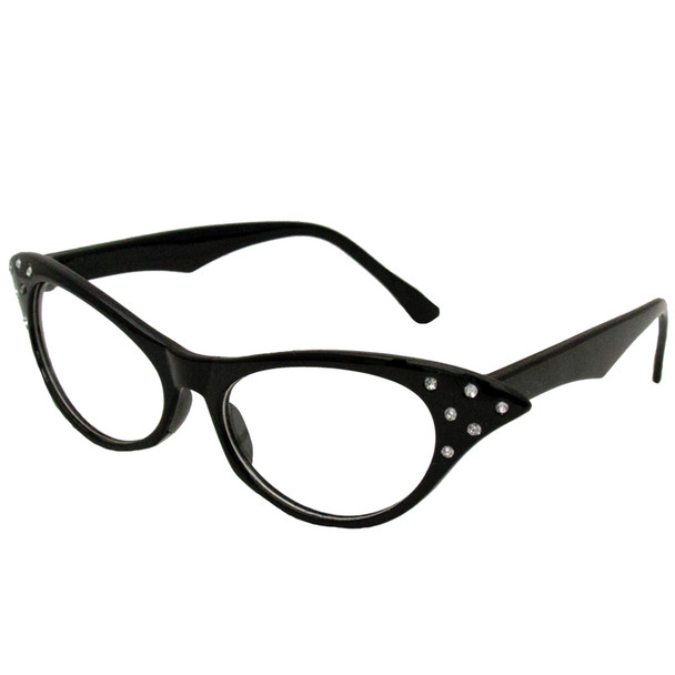 Cat eye glasses - black