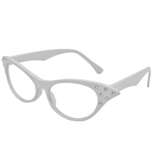 White Cat Eye Glasses |  White Cat Eye Glasses Wholesale | 1192