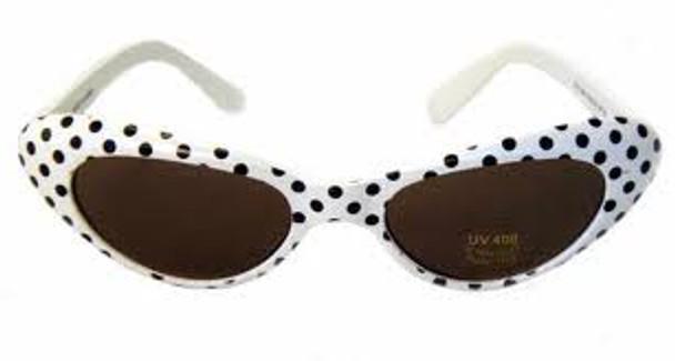 White Cat Eye Sunglasses |  KIDS SIZE White Cat Eye Sunglasses Wholesale | 7084
