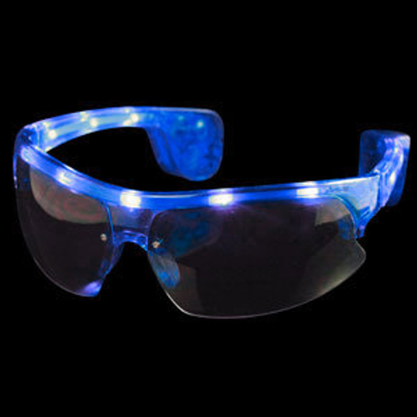 Blue Rave LED Aviator Style Sunglasses 7102