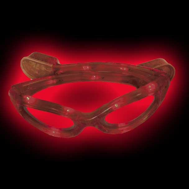 LED Wrap Around Glasses Red 7105