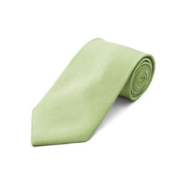 "Lime Green 3.75"" Wide Standard Satin Tie 6811"