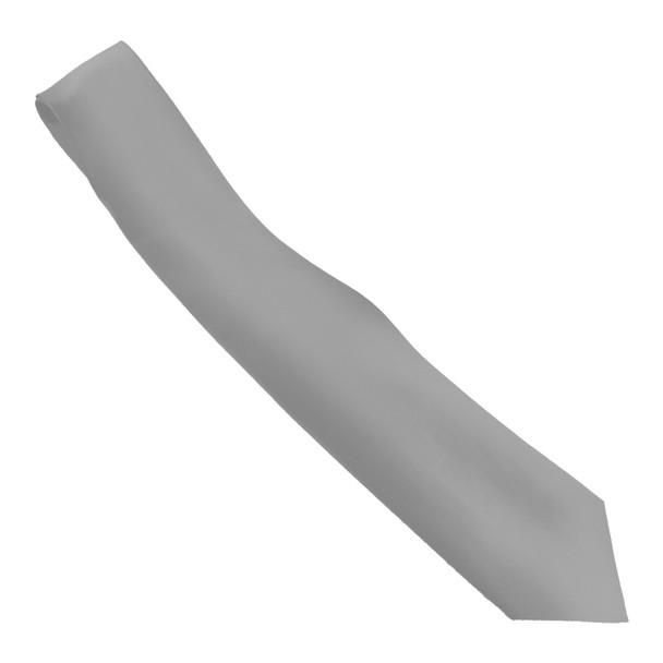 "Silver Tie 3.75"" Wide Standard Satin Tie 6814"