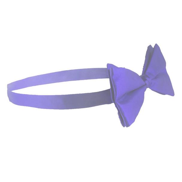 Satin Bow Tie Purple Men's  6832
