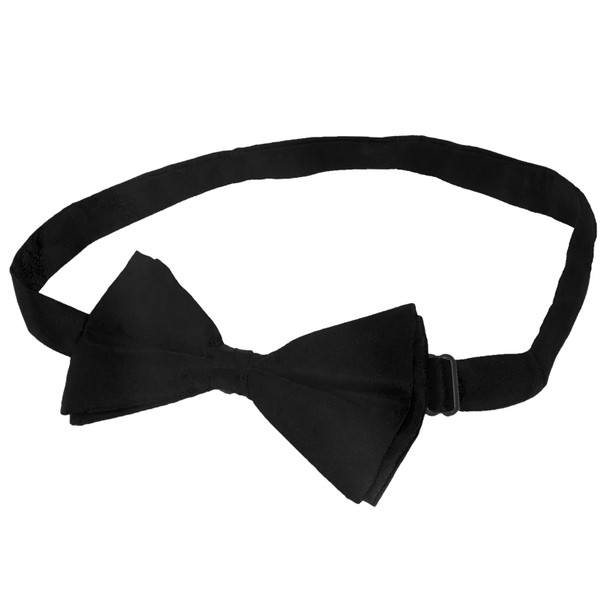 Satin Bow Tie Black Men's 6836