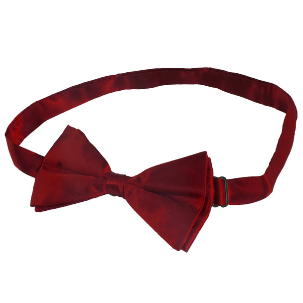 Satin Bow Tie Men's Burgundy 6841