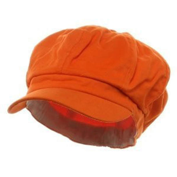Newsboy Cap Orange Adult 1405