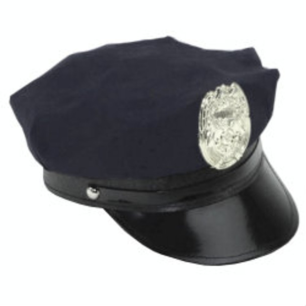 Black Police Hat with Badge  1433