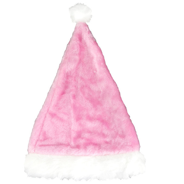 Plush Santa Hat Pink 12 PACK 1438