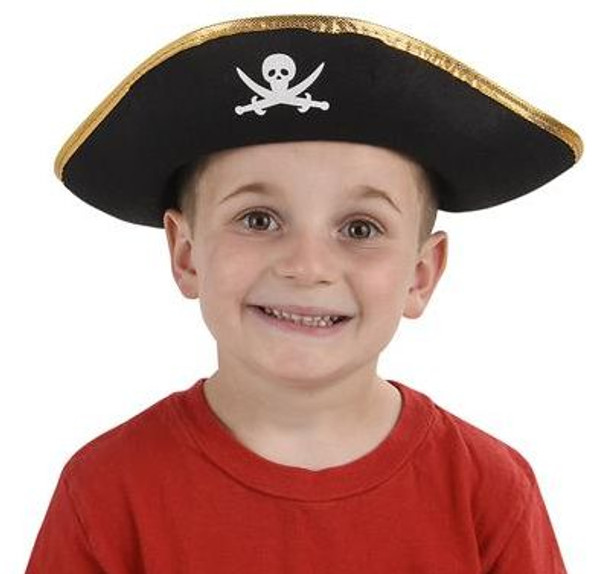 Child Pirate Hat Felt 12 PACK 1563
