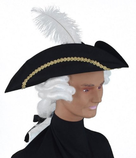Child Colonial Tricorn Hat with Wig 1565