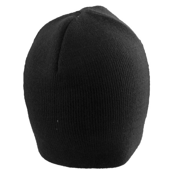 Short Beanie Hat Black 5731
