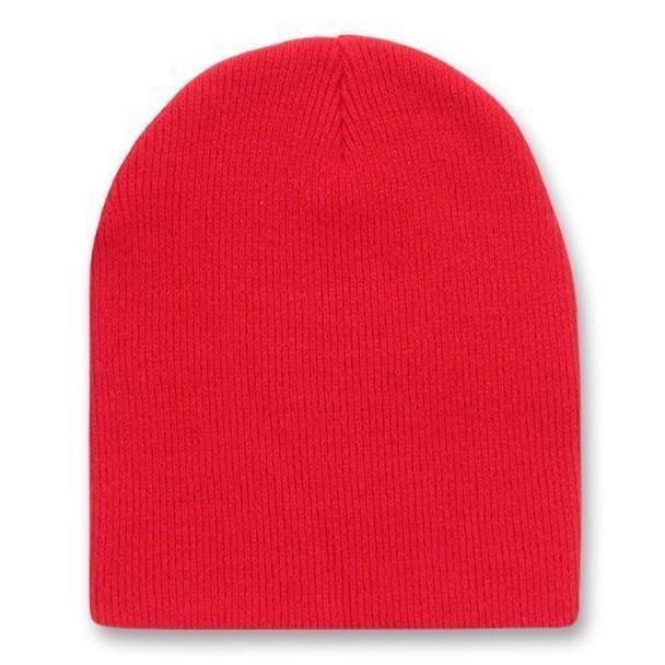 Short Beanie Hat Red 5733