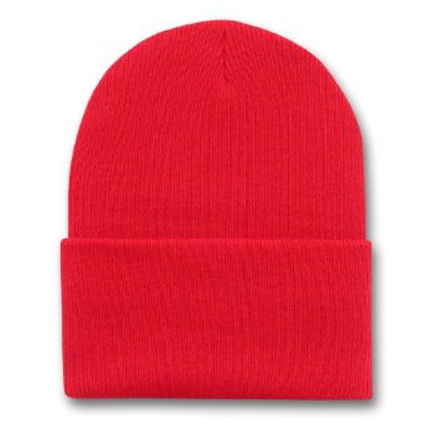 Long Beanie Hat Red 5759