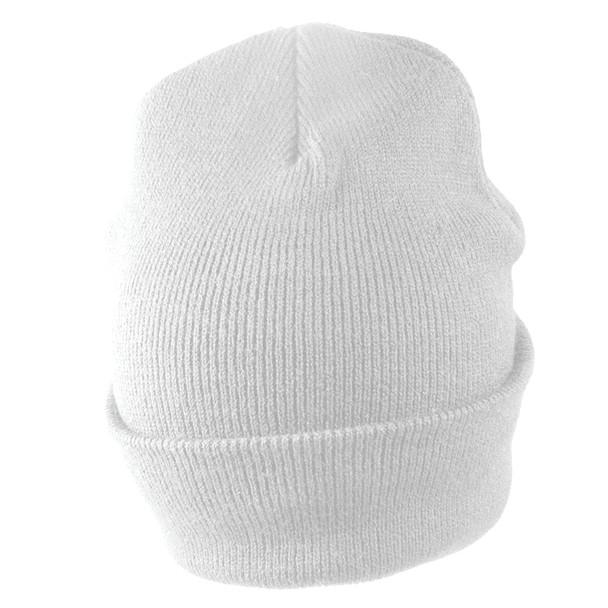 Long Beanie Hat White 5760