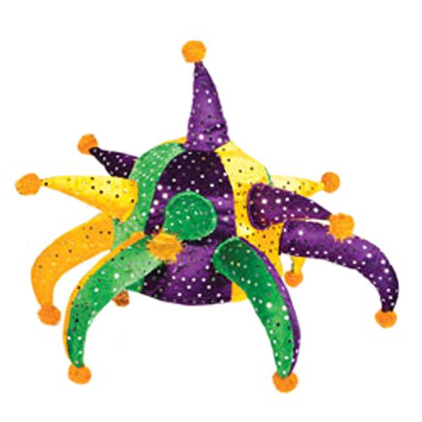 "Original ""Big Easy"" Mardi Gras Sequined Jester Hat 5879"