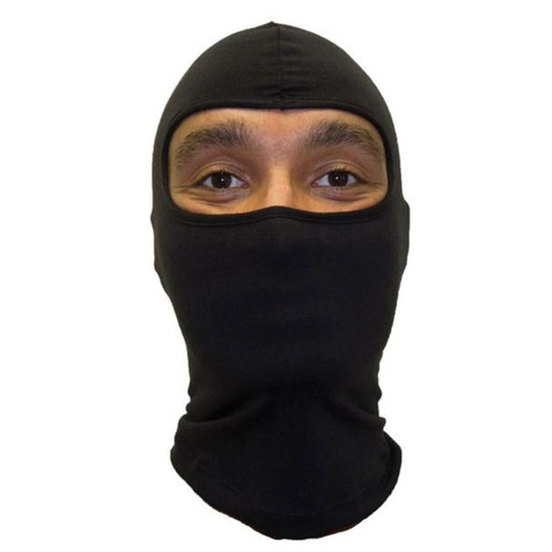 Ninja Mask Black One Hole Ski Mask Poly/Cotton 12 PACK 3052