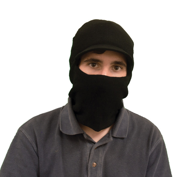 Visor Ski Mask Black One Hole 3054