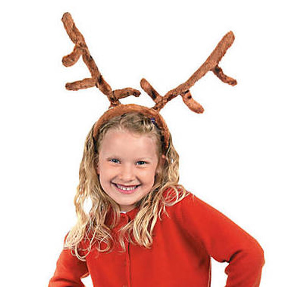 Plush Reindeer Antlers Headband 12 PACK 1681