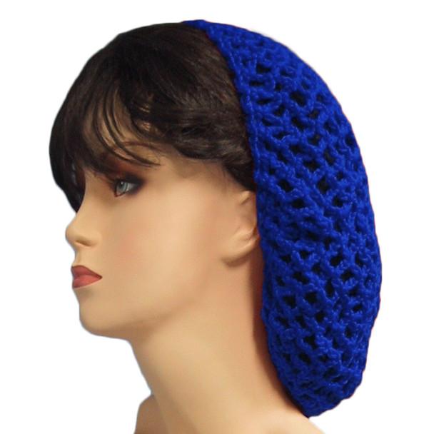 12 PACK Royal Blue Crochet Hair Snood 6621