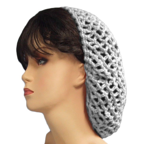 12 PACK White Crochet Hair Snood 6626