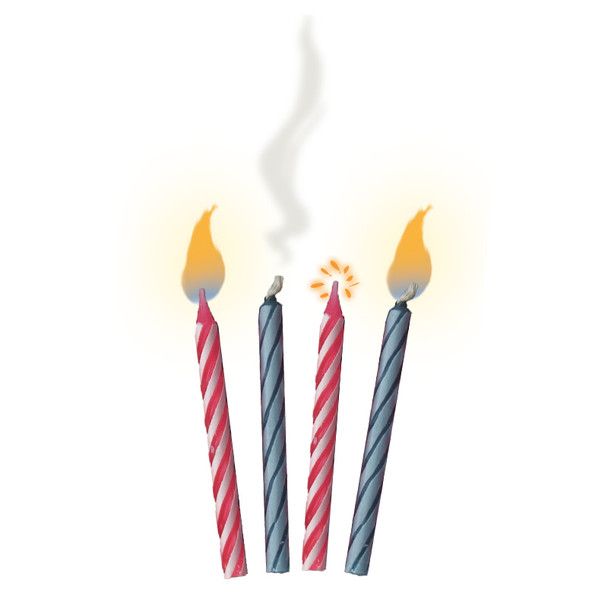 Trick Candles   Relighting Candles   10PK  1647