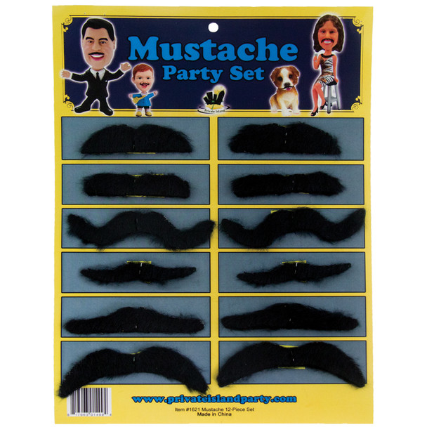 Bulk Mustaches | 144 pcs Party Set 1621