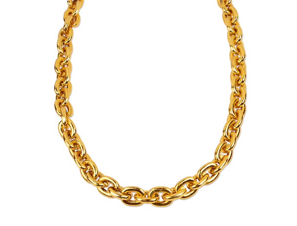 "Rapper Chains   Rapper Jewelry    Fake Rapper Chains   2"" W"" X 33"" Standard Length"" STANDARD L12 PACK 6546"
