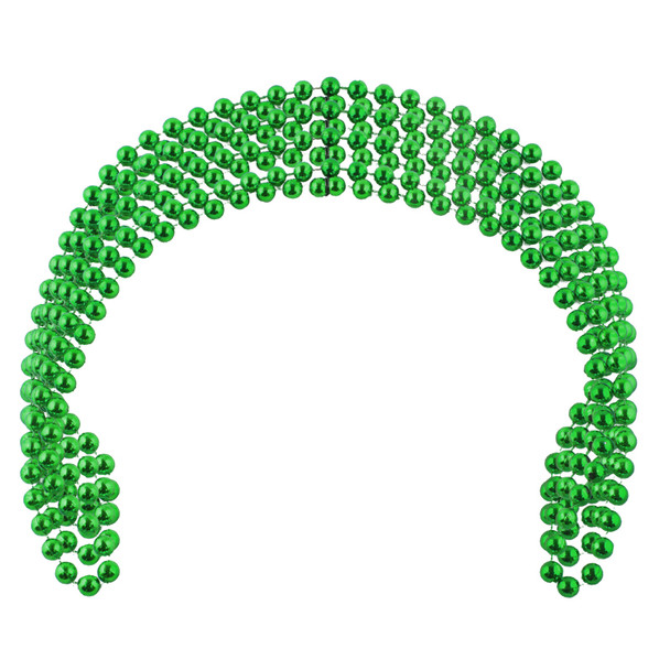 St Patricks Beads Green Bulk 12 PACK 6555