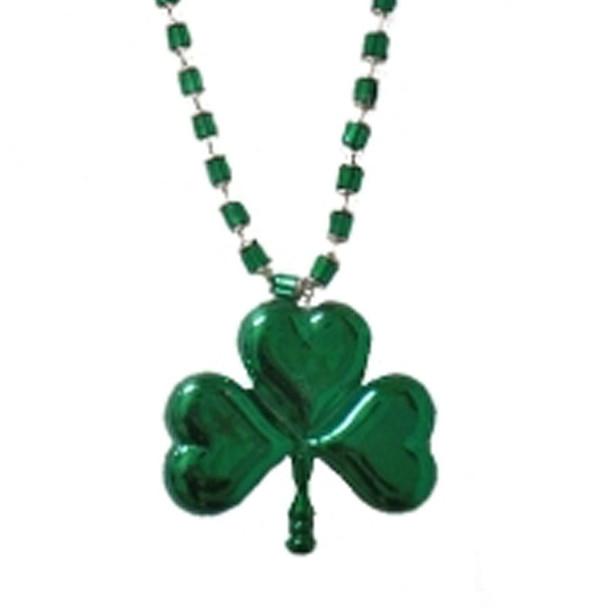 St Patricks Day Beads Jumbo Shamrock Beads Necklace 6560
