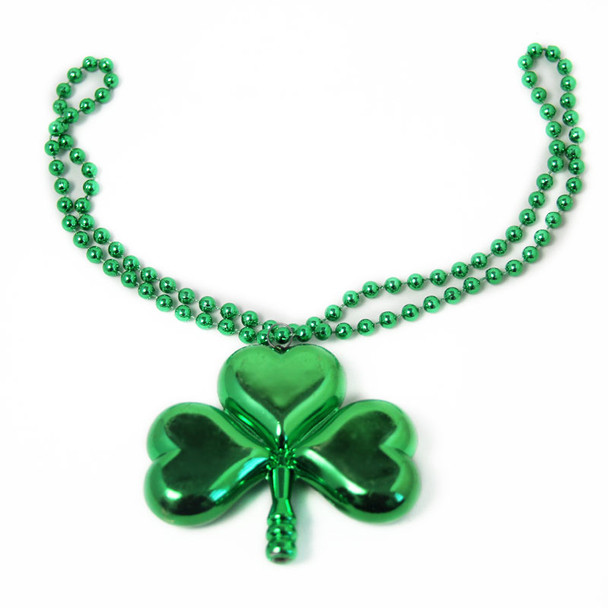 St Patricks Deluxe Lucky Shamrock Pendant Necklace 6569