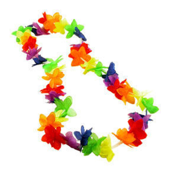 Flower Leis Mix Colors 12-PACK 1839