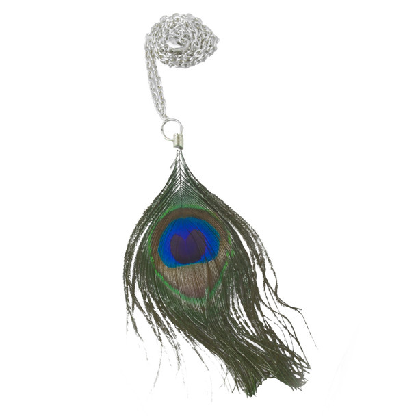 12 PACK Peacock Feather  Necklace 6534