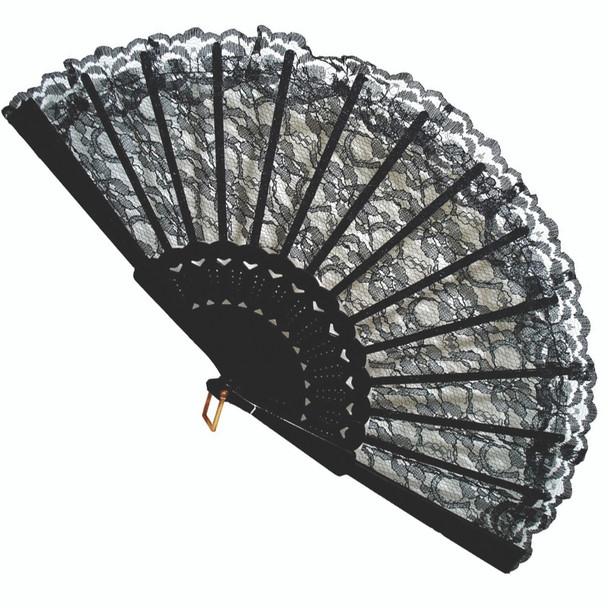 Black Lace Fiesta Fan 1892