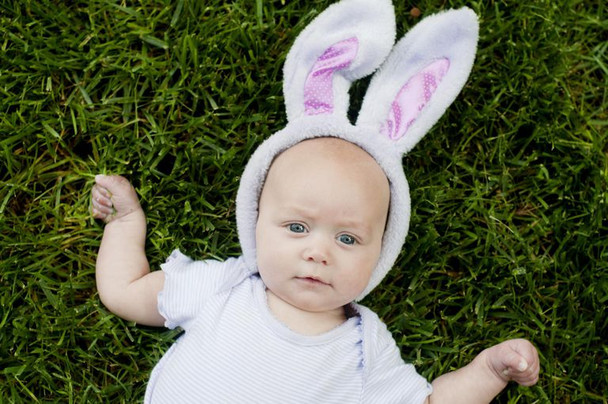White Bunny Ears and Tail Set 1670