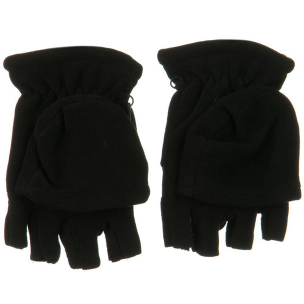 Fleece Fingerless Gloves    With Mittens 5008