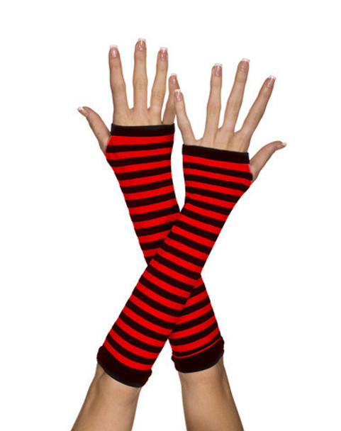 Black and Red Striped Arm Warmer 1251