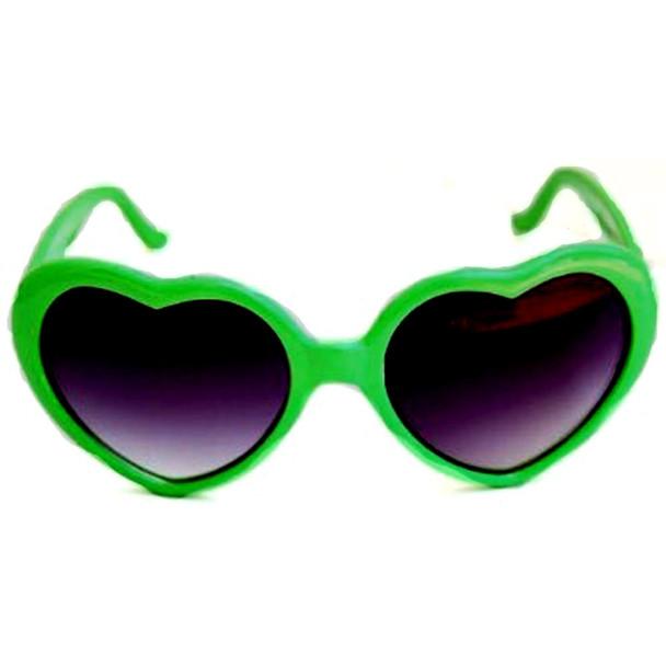 Green Child Lolita Heart Shape Sunglasses 1021