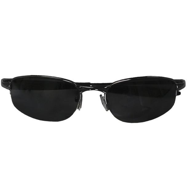 Sports Sunglasses Black Fishing Metal Half Frame/Black Lens 1116