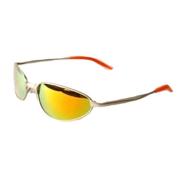 Sports Sunglasses Rainbow Metal Silver Half Frame/Rainbow Lens 1118