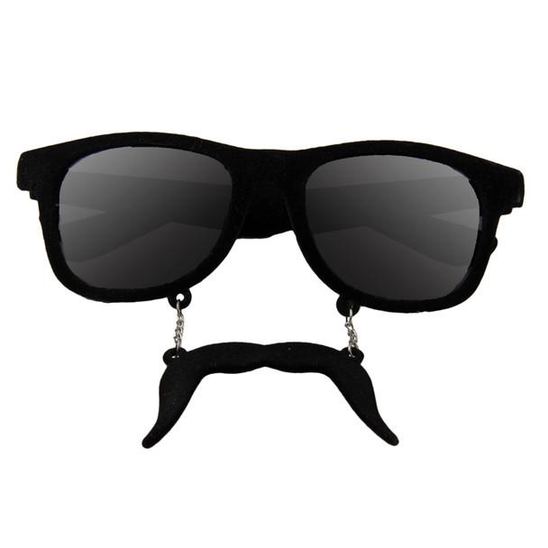 Incognito Sunglasses S2 Black Mustache Vintage 80 Style Sunglasses  7099