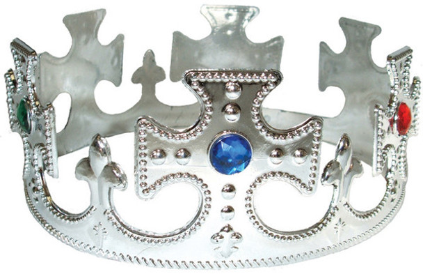 Silver King Costume Crown 1441