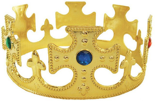 Royal Jeweled Gold King Crown 1442