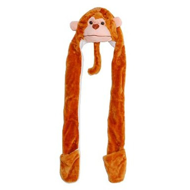 Long Monkey Hat with Paws 5875