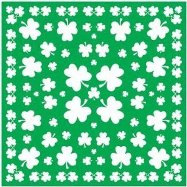 St Patricks Shamrock Green Irish Bandanna 1970