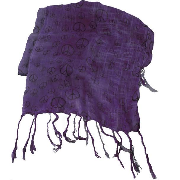 Purple Peace Sign Scarf 2013