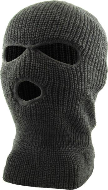 Three Hole Knit Ski Mask - Dark Grey 3058