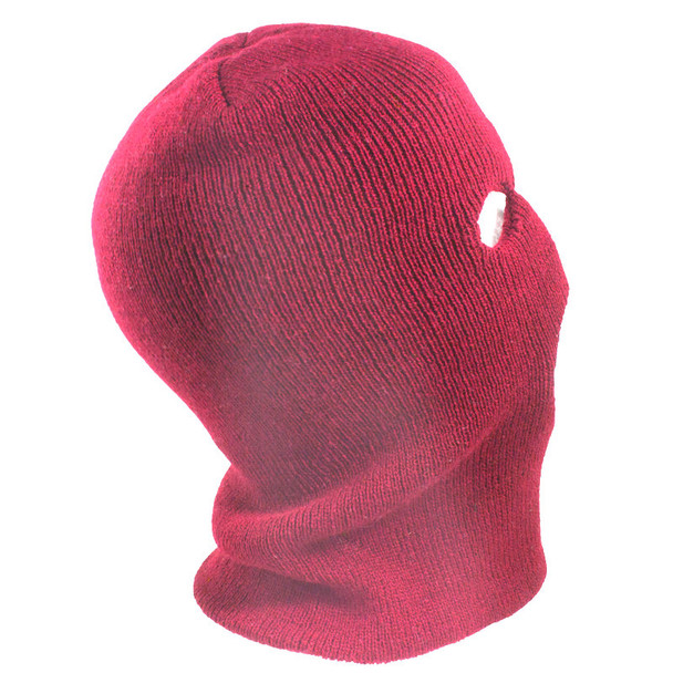 Red Ski Mask Wholesale | Red Three Hole Knit Ski Mask | 3060D