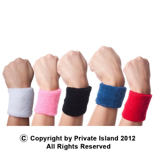 Athletic Wristbands Bulk |  Athletic Headbands Bulk | Terry Cloth Standard Mixed Pack 12 PACK 3069
